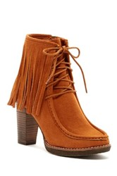 Bucco Maddasyn Faux Fur Lined Lace Up Bootie Brown