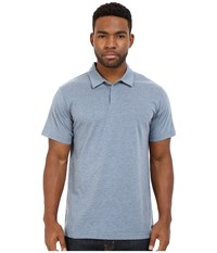 Rvca Sure Thing Ii Polo Stormy Blue Men's Short Sleeve Knit