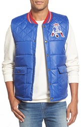 Mitchell Ness 'New England Patriots' Quilted Nylon Vest Blue Royal