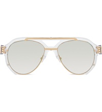 Prabal Gurung Pg11c1 Clear Acetate Aviator Sunglasses