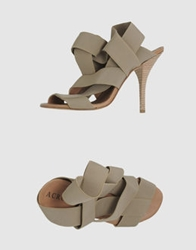Acrobats Of God High Heeled Sandals Dove Grey