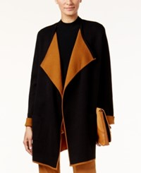 Alfani Colorblocked Open Front Cardigan Only At Macy's Colorblock Deep Black