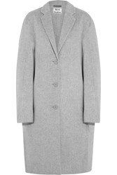 Acne Studios Avalon Double Oversized Wool And Cashmere Blend Coat Light Gray