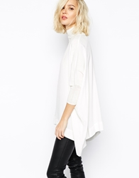 Gestuz Pandora Blouse With High Neck And Batwing Sleeve White