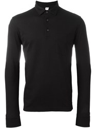 Aspesi Longlsleeved Polo Shirt Black