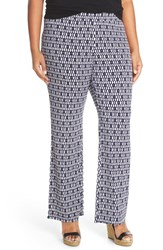 Plus Size Women's Vince Camuto 'Diamond Phrase' Print Stretch Knit Wide Leg Pants