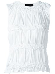 Simone Rocha Ruched Tank Top White
