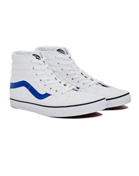 Vans Sk8 Hi Reissue Trainers Canvas White Blue