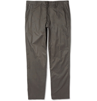 Folk Straight Leg Cotton Trousers Green