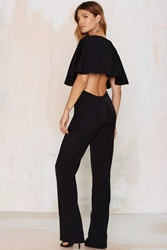 Nasty Gal The Jetset Diaries Bring It Back Plunging Jumpsuit