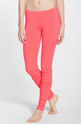 Alo Yoga 'Goddess' Ribbed Leggings Neon Azalea