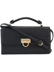 Salvatore Ferragamo 'Alby' Satchel Bag Black
