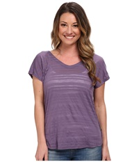 Smartwool Burnout Reversible Tee Desert Purple Women's Short Sleeve Pullover