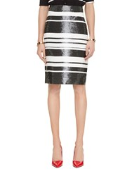 Kate Spade Sequin Cape Stripe Pencil Skirt