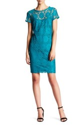 Nine West Short Sleeve Lace Dress Blue