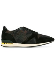 Burberry Camouflage Sneakers Green