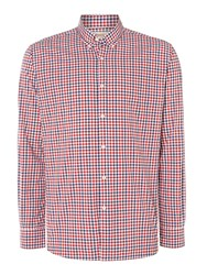 T.M.Lewin Check Slim Fit Long Sleeve Button Down Shirt