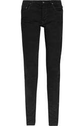 Rick Owens Mid Rise Skinny Jeans Black