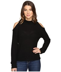 Lna Open Shoulder Turtleneck Black Women's Clothing