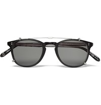 Garrett Leight California Optical Kinney Acetate Optical Glasses With Clip On Uv Lense Black