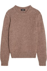 A.P.C. Atelier De Production Et De Creation Sweet Knitted Sweater Antique Rose
