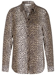 Oui Animal Print Blouse Off White Grey