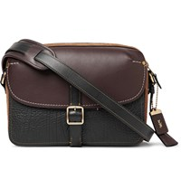 Coach Gotham Suede And Leather Messenger Bag Black