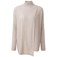 Pure Collection Keats Wrap Front Cashmere Poncho Marble