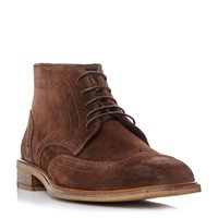 Bertie Canister Wingtip Brogue Boots Brown