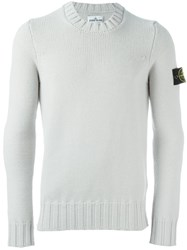 Stone Island Logo Patch Jumper Grey