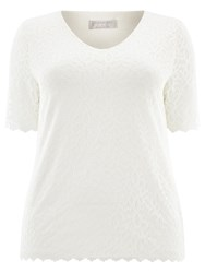 Windsmoor Lace Jersey Top Ivory
