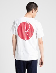 Polar Skate Co. White Red Psc Fill Logo Behind The Curtain T Shirt