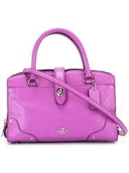 Coach Detachable Strap Tote Pink Purple