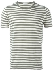 Societe Anonyme Striped T Shirt Green