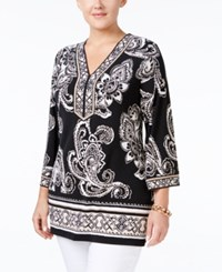 Jm Collection Plus Size Paisley Print Tunic Only At Macy's Enchanted Tribe