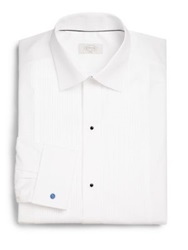 Eton Of Sweden Slim Fit French Cuff Pleated Dress Shirt White