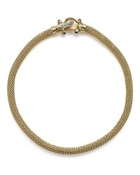 Bloomingdale's Cobra Clasp Necklace In 14K Yellow Gold With Diamonds .10 Ct. T.W.