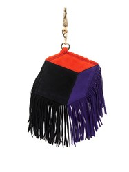 Pierre Hardy Fringed Cube Suede Key Ring