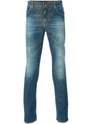 Etro Degrade Effect Slim Jeans Blue