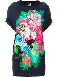 I'm Isola Marras Rose Print Top Blue
