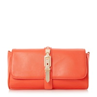 Head Over Heels Bushu Buckle Detail Clutch Bag Orange