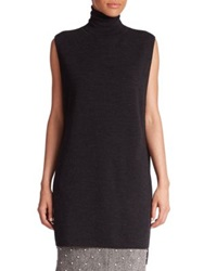 Adam By Adam Lippes Double Faced Wool Turtleneck Tunic Black