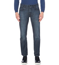 Hugo Boss Relaxed Fit Tapered Jeans Medium Blue