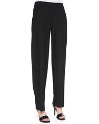 Eric Javits Washable Crepe Straight Leg Pants Midnight