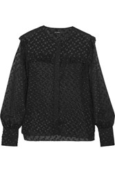 Isabel Marant Polka Dot Fil Coupe Blouse Black