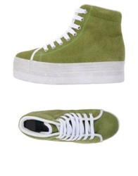 Jeffrey Campbell High Tops And Trainers Light Green