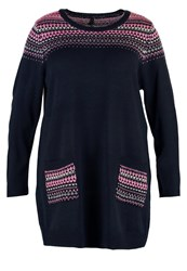 Evans Fairisle Jumper Navy Black