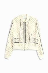 3.1 Phillip Lim Women S Knot Print Bomber Boutique1 White