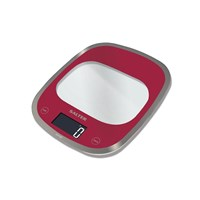 Salter Curve Glass Kitchen Scale Red