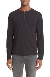 The Kooples Men's Leather Piped Long Sleeve Henley